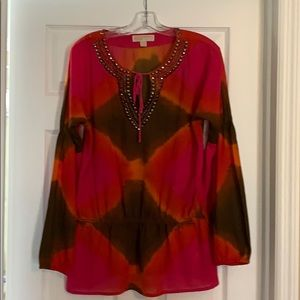 Michael Kors tunic with metal accents, M, VG cond.